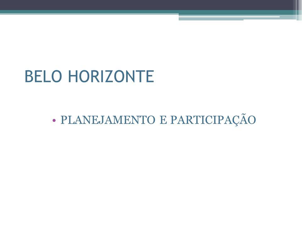 BELO HORIZONTE PLANEJAMENTO E PARTICIPAÇÃO
