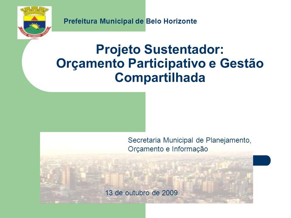 Projeto Sustentador: Orçamento Participativo e Gestão Compartilhada Secretaria Municipal de Planejamento, Orçamento e Informação Prefeitura Municipal