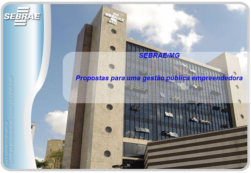 SEBRAE/MG Propostas para uma gestão pública empreendedora