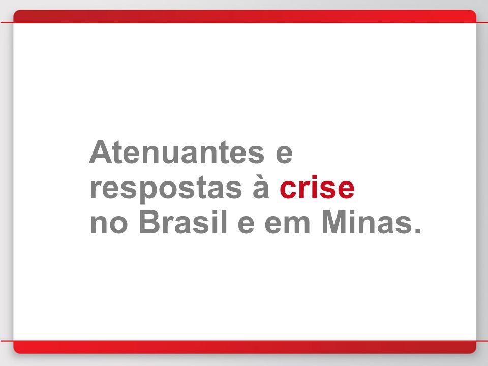 Atenuantes e respostas à crise no Brasil e em Minas.