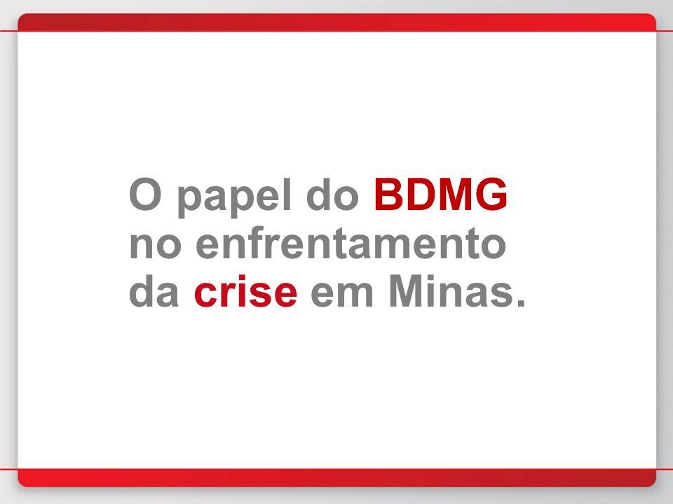 O papel do BDMG no enfrentamento da crise em Minas.