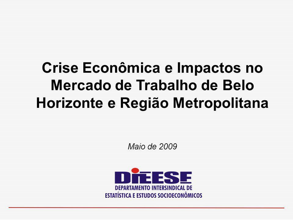 Maio de 2009 Crise Econômica e Impactos no Mercado de Trabalho de Belo Horizonte e Região Metropolitana