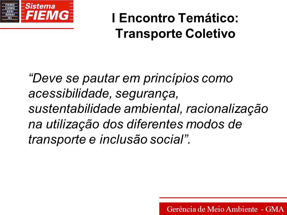 Gerência de Meio Ambiente - GMA II Encontro Temático: Saneamento Ambiental Meta 2010: projeto idealizado pela sociedade civil e que teve a participação de diversos atores, que trabalharam de forma integrada em prol de um objetivo comum.