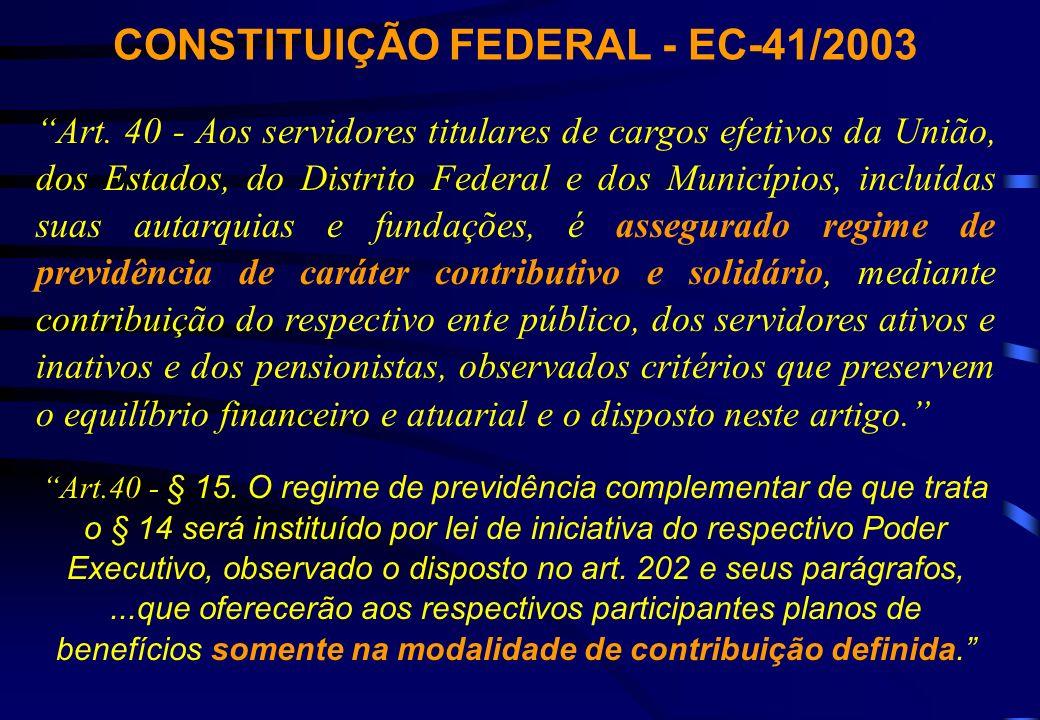 CONSTITUIÇÃO FEDERAL - EC-41/2003 Art.