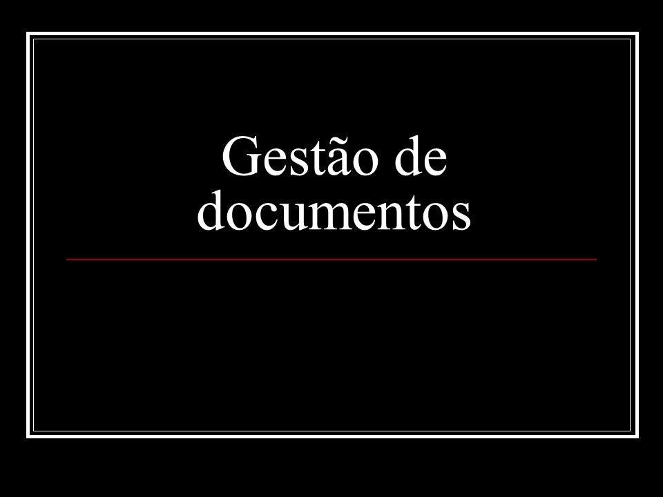 Ciclo de vida dos documentos (teoria das 3 idades) Cada uma dessas fases corresponde a procedimentos técnicos diferenciados.