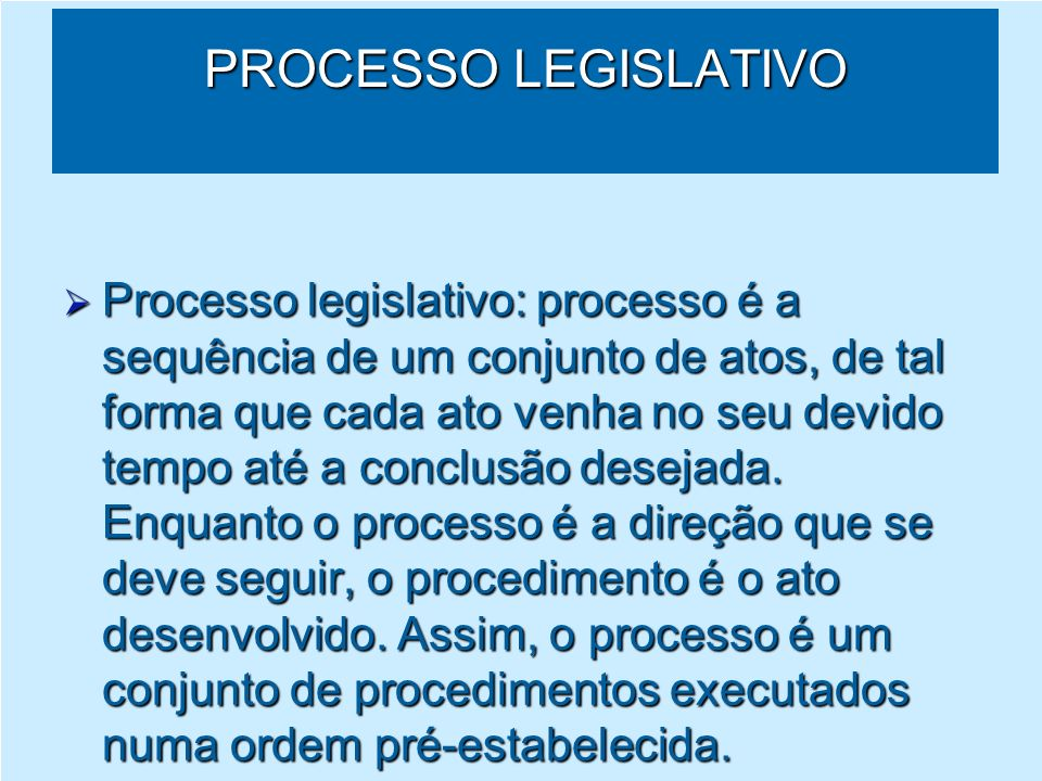Processo Legislativo Tramitação DIVCOL Protocolar Análise Estudos da Consultoria AVULSOS Pesquisa Instrução Projeto de lei Presidente