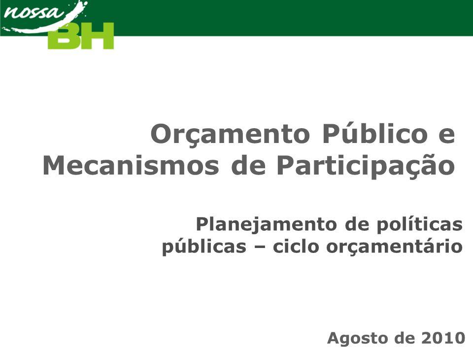 É um instrumento político que pode estar mais ou menos a serviço da… … Democracia … República … Equidade … Transparência na esfera pública … Sustentabilidade Orçamento Público