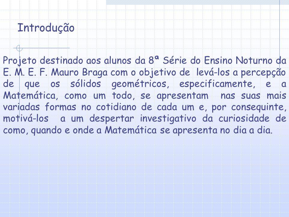 Projeto destinado aos alunos da 8ª Série do Ensino Noturno da E.