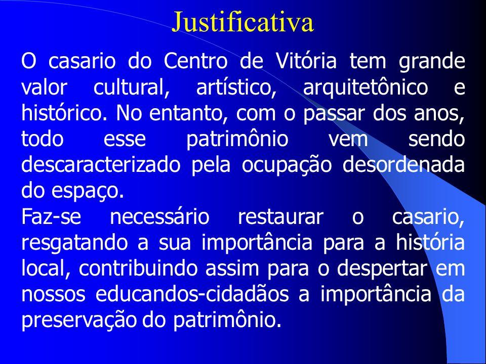 VITÓRIA NO CENTRO Mariluci Vasconcelos Gonçalves Sabrina Martins Siqueira