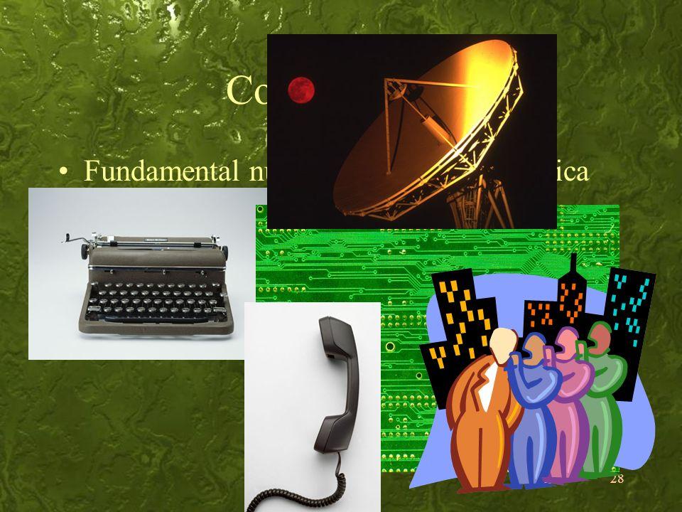 28 Comunicação Fundamental numa sociedade tecnológica