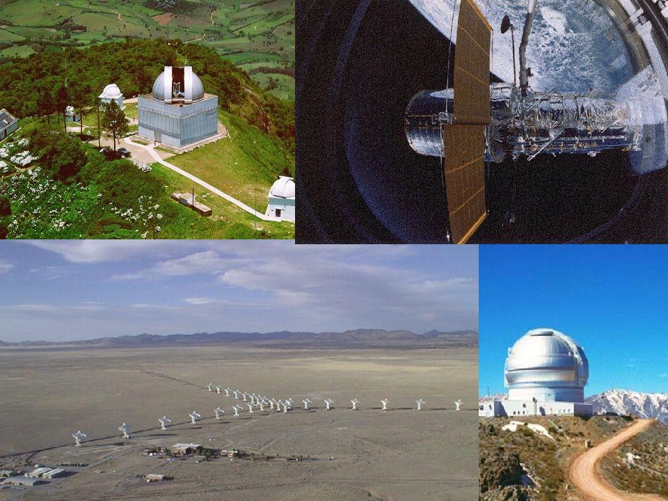 37 Telescópios Instrumentos poderosos e eficientes. –LNA. –Gemini. –VLA. –Hubble.