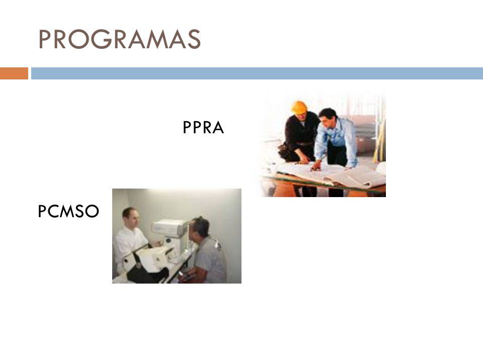 PPRA Programa de Prevenção de Riscos Ambientais.Base legal: NR.