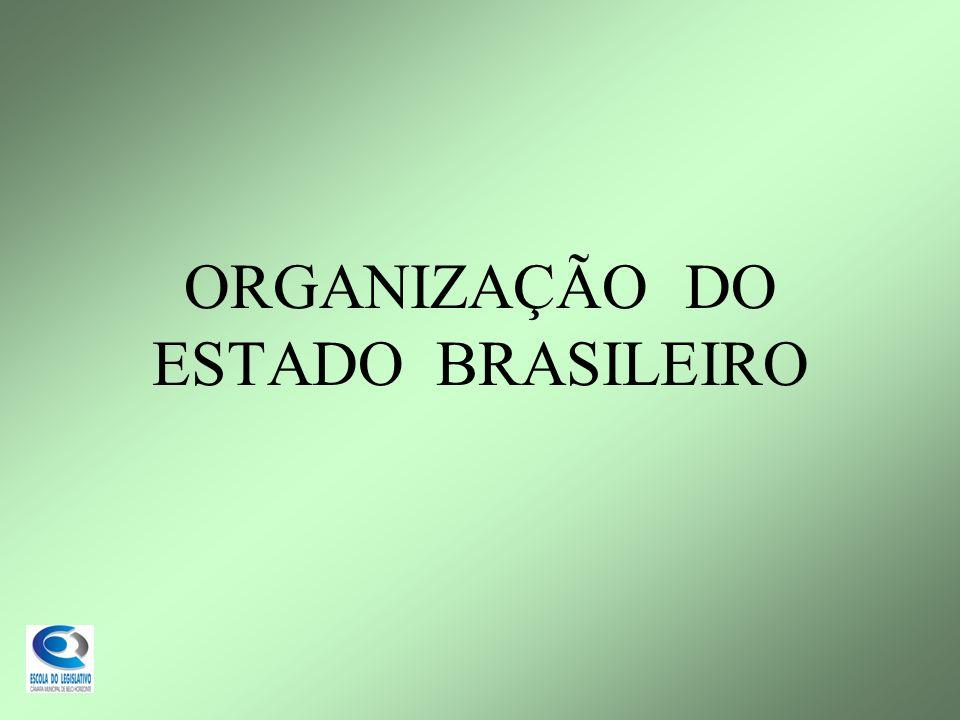 ORGANIZAÇÃO DO ESTADO BRASILEIRO