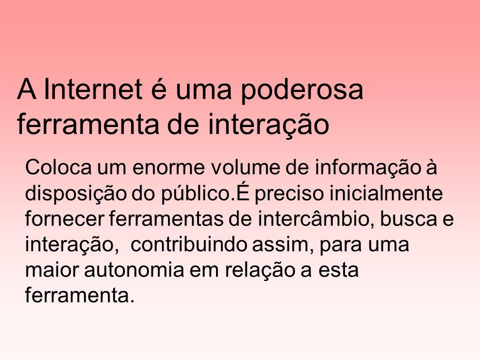 Conta de e-mail Intercâmbio com outras comunidades virtuais Diário eletrônico (Bloggers) Pesquisas de temas da atualidade Home-page do pessoal do Projeto.