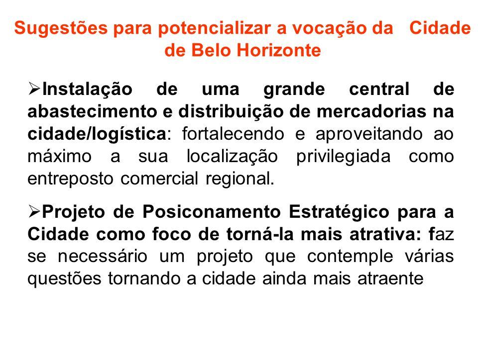 Instalação de uma grande central de abastecimento e distribuição de mercadorias na cidade/logística: fortalecendo e aproveitando ao máximo a sua local