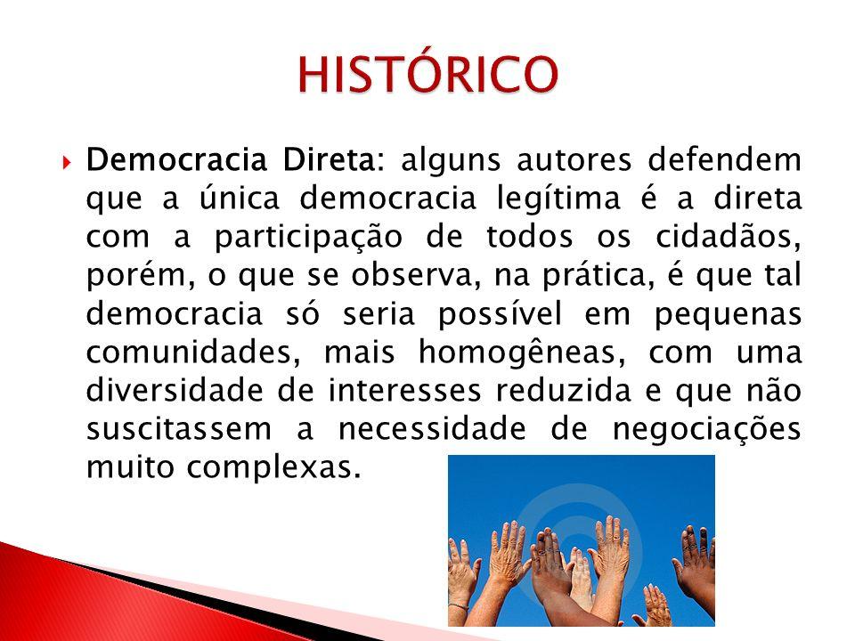 Democracia Representativa: A democracia representativa não é adversária do ideal de igualdade política, e sim uma alternativa democrática para as sociedades de massas, complexas e segmentadas em que vivemos.