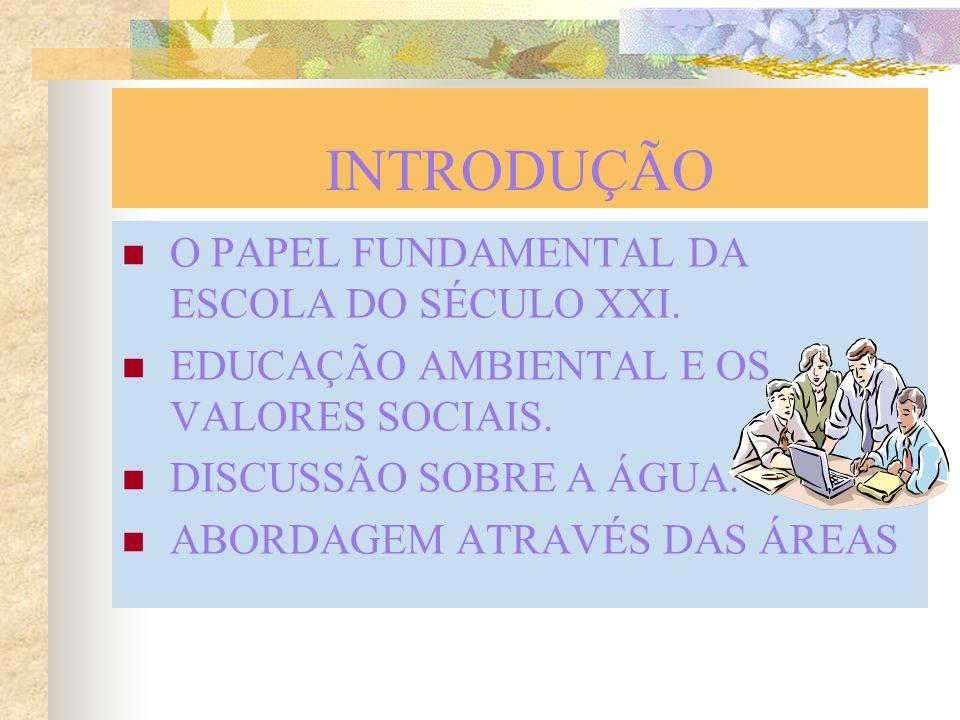 INTRODUÇÃO O PAPEL FUNDAMENTAL DA ESCOLA DO SÉCULO XXI.