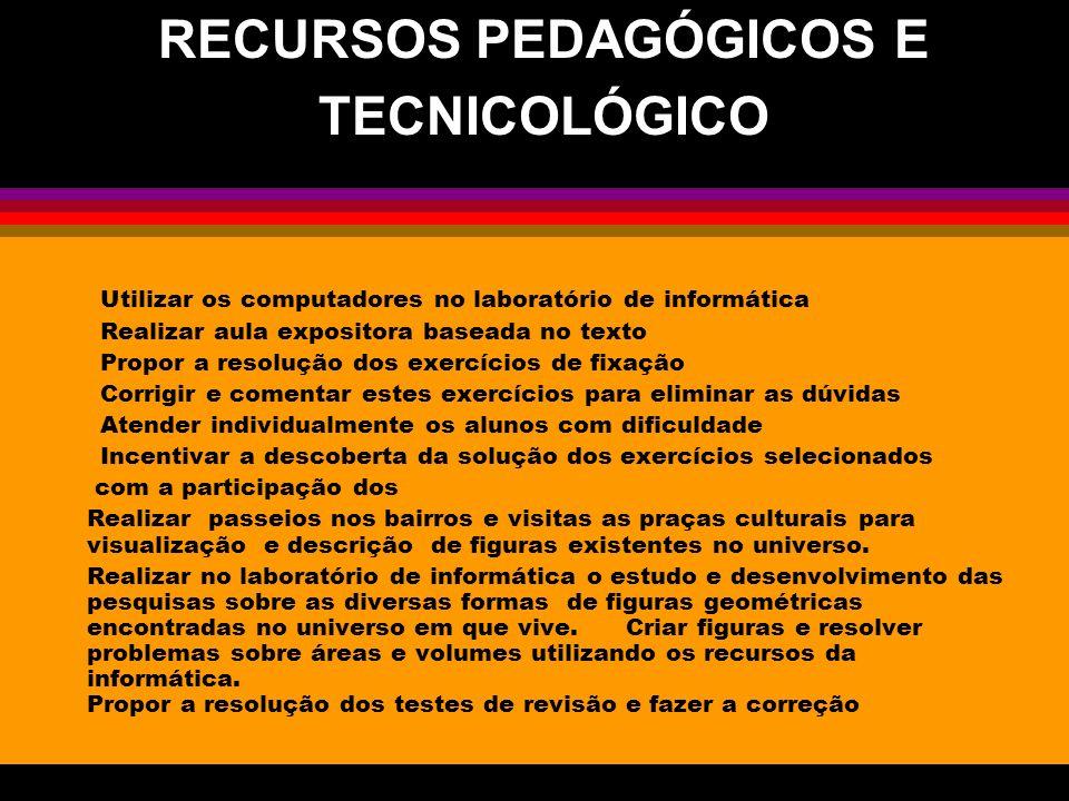 -Realizar aula expositiva baseada no texto -Propor a resolução dos exercícios de fixação -Corrigir e comentar estes exercícios para eliminar as dúvida
