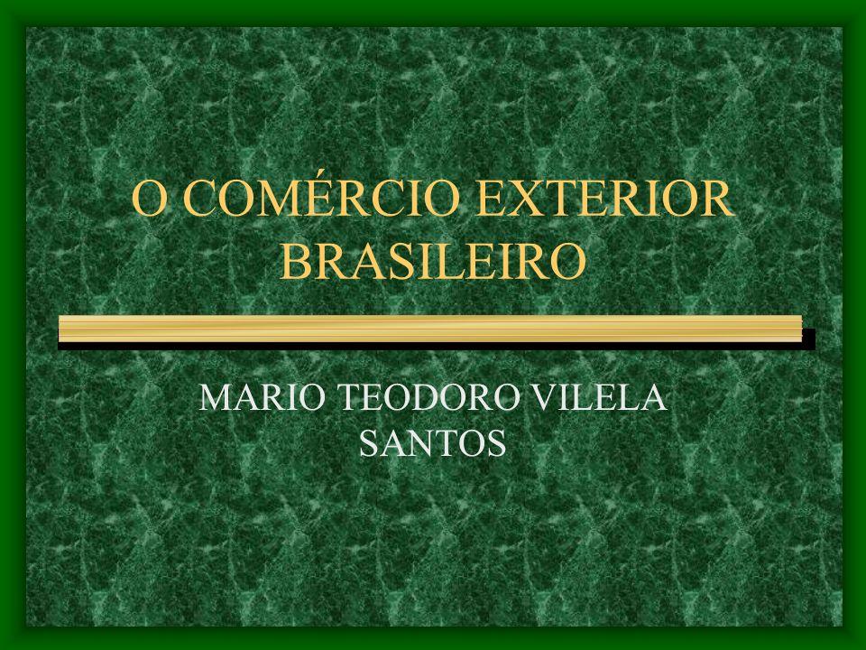 O COMÉRCIO EXTERIOR BRASILEIRO MARIO TEODORO VILELA SANTOS