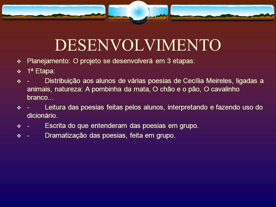 DESENVOLVIMENTO 2ª Etapa: Distribuição da poesia: Leilão de Jardim.