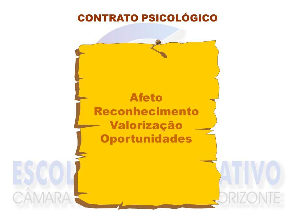 RECONHECIMENTO AFETO ACEITAÇÃO VALORIZAÇÃO AUTO-REALIZAÇÃO CONTRATO DE TRABALHO IMPLÍCITO COMPROMETIMENTO ENGAJAMENTO RESPONSABILIDADE INDIVÍDUOORGANI