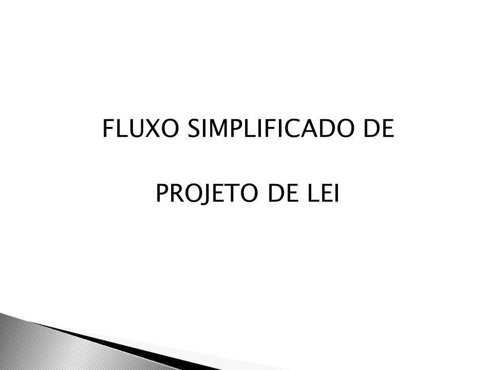 FLUXO SIMPLIFICADO DE PROJETO DE LEI
