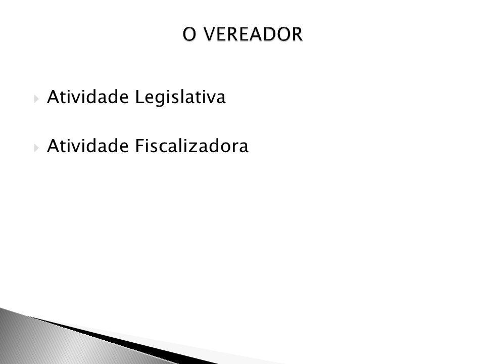 Atividade Legislativa Atividade Fiscalizadora