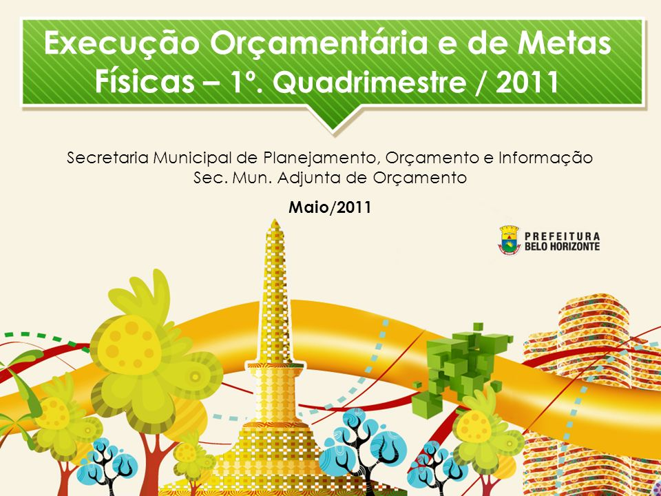 EXECUÇÃO ORÇAMENTÁRIA 1º. QUADRIMESTRE / 2011