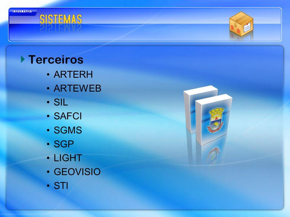 Terceiros ARTERH ARTEWEB SIL SAFCI SGMS SGP LIGHT GEOVISIO STI