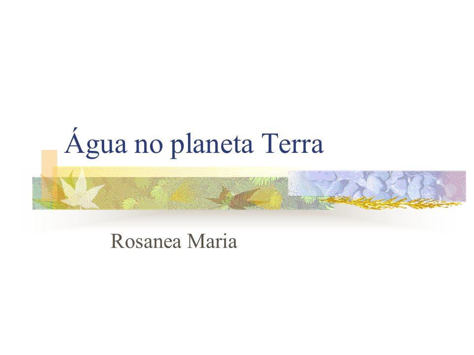 Água no planeta Terra Rosanea Maria