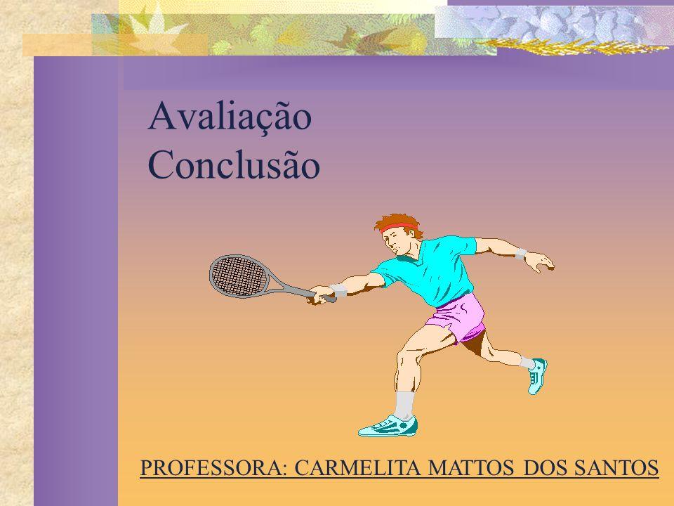 Avaliação Conclusão PROFESSORA: CARMELITA MATTOS DOS SANTOS