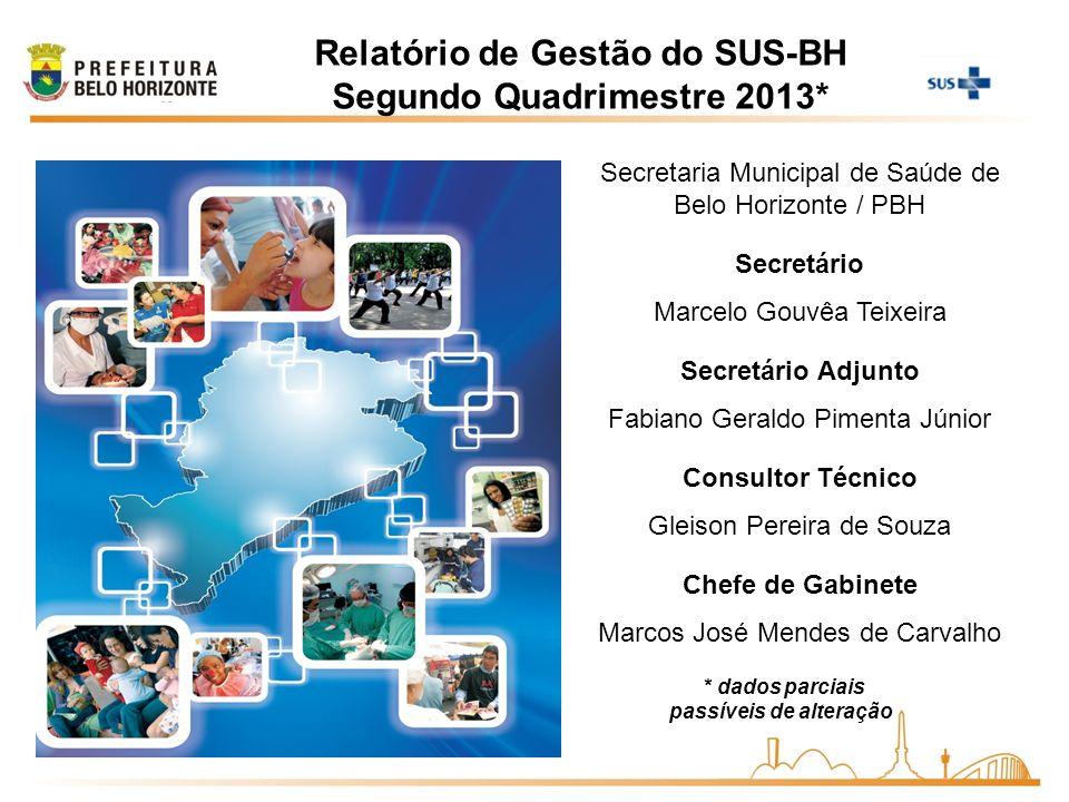 Secretaria Municipal de Saúde de Belo Horizonte / PBH Secretário Marcelo Gouvêa Teixeira Secretário Adjunto Fabiano Geraldo Pimenta Júnior Consultor T