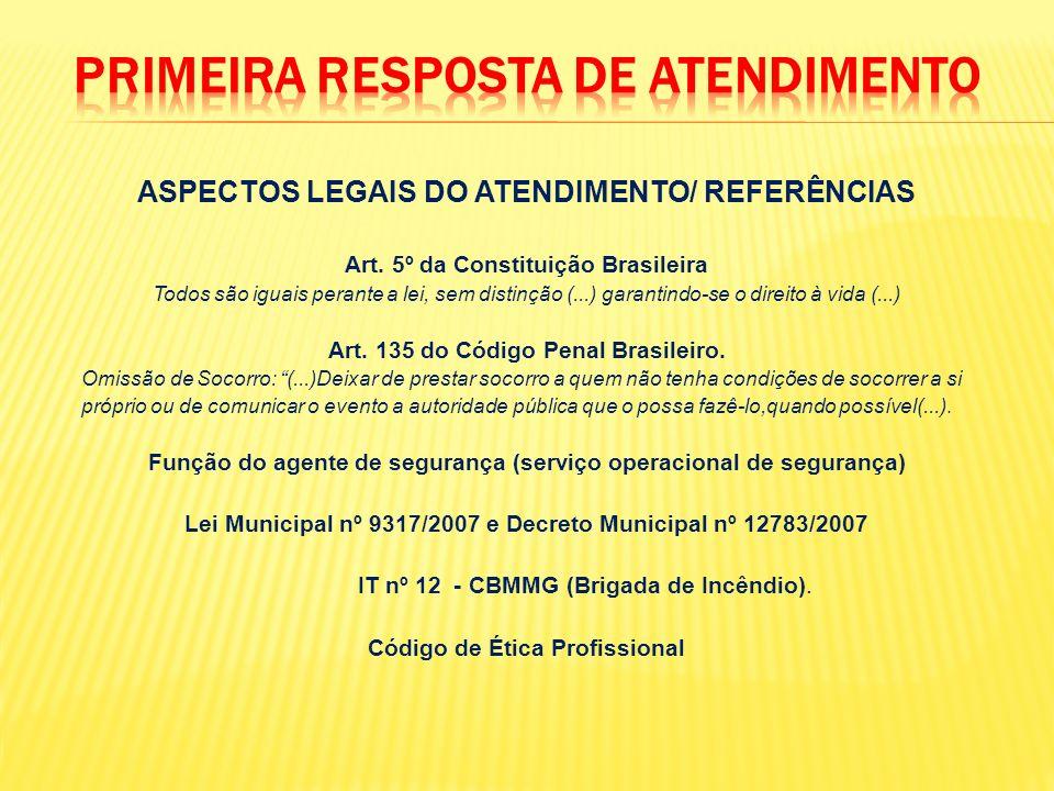 ASPECTOS LEGAIS DO ATENDIMENTO/ REFERÊNCIAS Art. 5º da Constituição Brasileira Todos são iguais perante a lei, sem distinção (...) garantindo-se o dir
