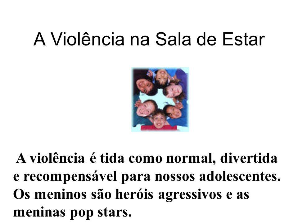 VIOLÊNCIA NA SALA DE ESTAR VIOLÊNCIA = TENDÊNCIA MASCULINA A INFLUÊNCIA DA MÍDIA A FAMÍLIA.