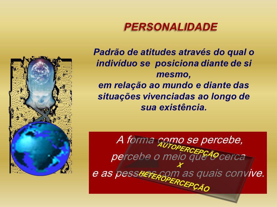 Padrão de atitudes através do qual o indivíduo se posiciona diante de si mesmo, em relação ao mundo e diante das situações vivenciadas ao longo de sua
