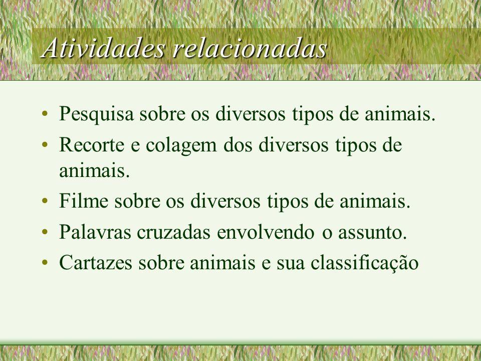 DESENVOLVIMENTO Conversa informal acerca de fauna, cadeia alimentar e equilíbrio ecológico,os diversos tipos de animais... Leitura de texto informativ