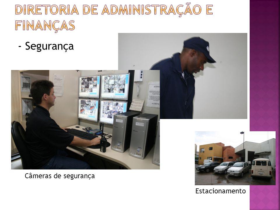- Segurança Estacionamento Câmeras de segurança