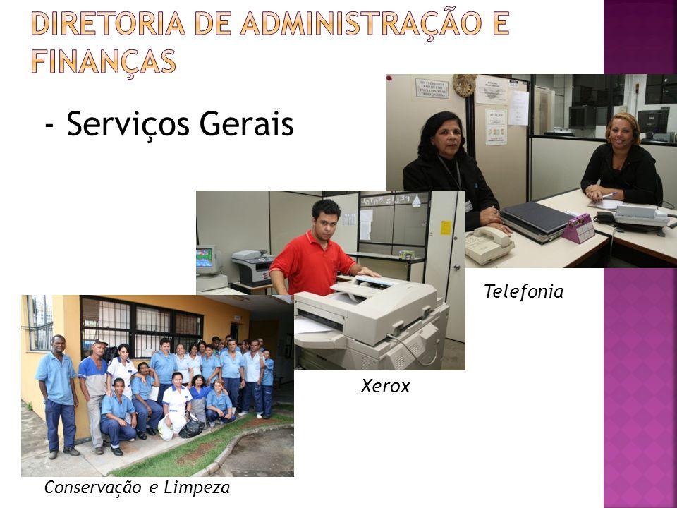 Telefonia - Serviços Gerais Xerox Conservação e Limpeza