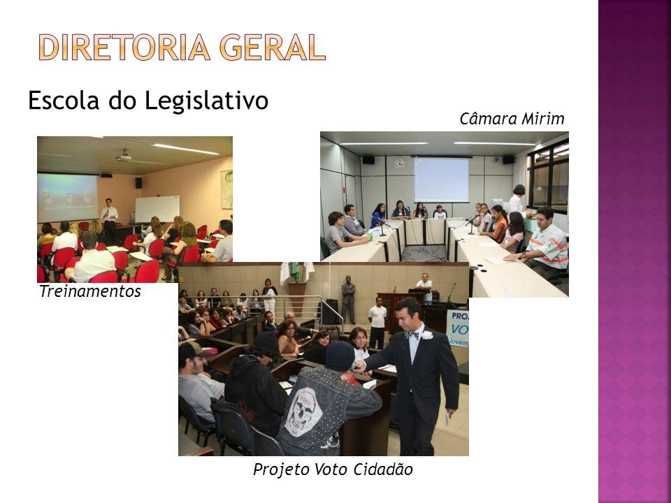 Escola do Legislativo Treinamentos Câmara Mirim Projeto Voto Cidadão
