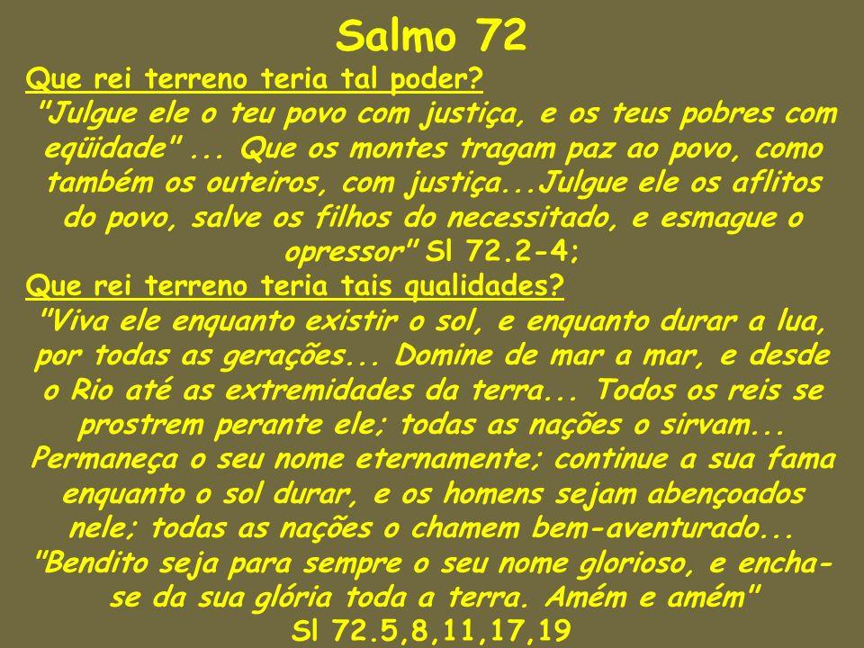 Salmo 72 Que rei terreno teria tal poder?