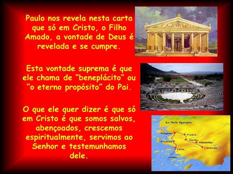 Paulo nos revela nesta carta que só em Cristo, o Filho Amado, a vontade de Deus é revelada e se cumpre. Esta vontade suprema é que ele chama de benepl
