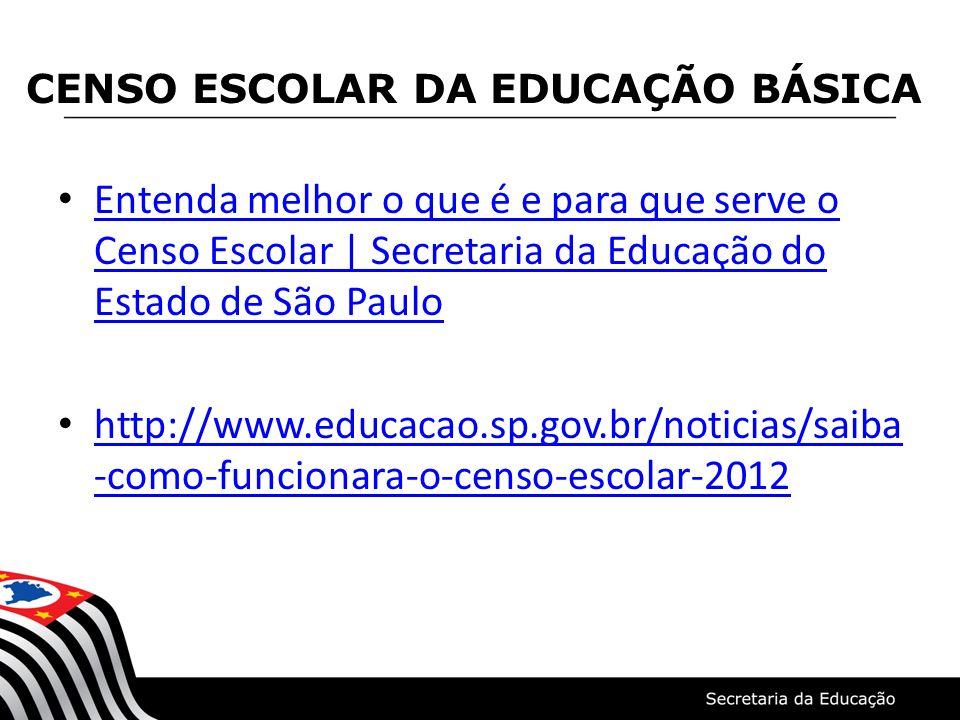 Entenda melhor o que é e para que serve o Censo Escolar   Secretaria da Educação do Estado de São Paulo Entenda melhor o que é e para que serve o Cens