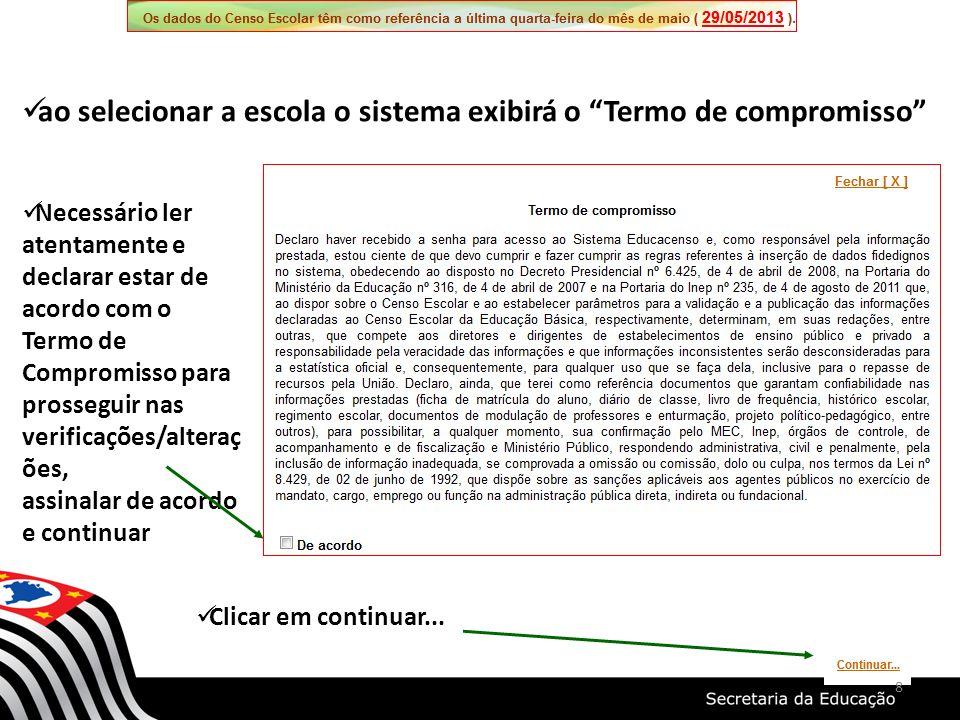 29 A análise criteriosa dos relatórios permitirá que todos os erros sejam corrigidos Os exemplos de Relatórios são do ano de 2012.