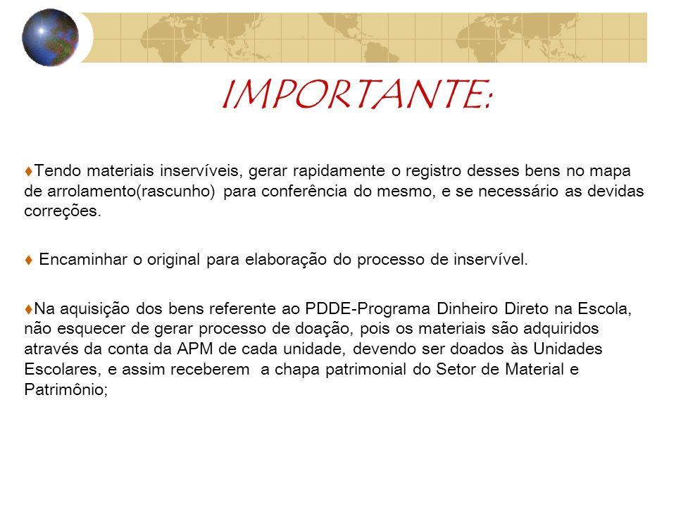 INVENTÁRIO 2010 A CHAPA PATRIMONIAL, é considerada o registro de nascimento ou RG.