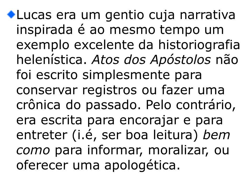 A exegese de Atos inclui não apenas as questões puramente históricas (O que aconteceu?) mas também teológicas (Qual era o propósito de Lucas ao selecionar e formular a matéria desta maneira?).