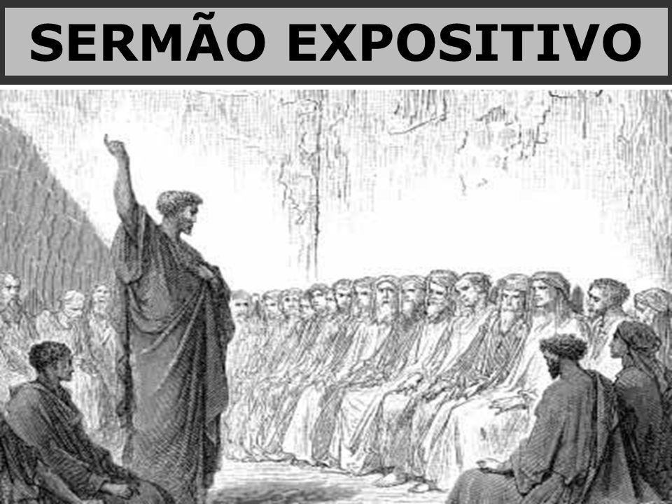 É o sermão cuja as divisões estão inseridas no fato narrado.