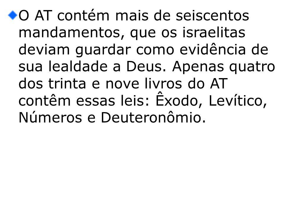 SEIS DIRETRIZES PARA A COMPREENSÃO DO RELACIONAMENTO DO CRISTÃO COM A LEI A lei do AT é uma aliança.