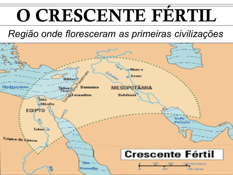 O CRESCENTE FÉRTIL Região onde floresceram as primeiras civilizações