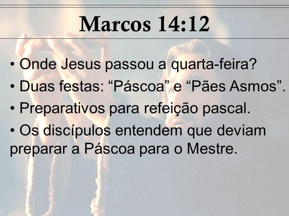 JESUS PREDIZ A NEGAÇÃO DE PEDRO (Marcos 14:27-31)