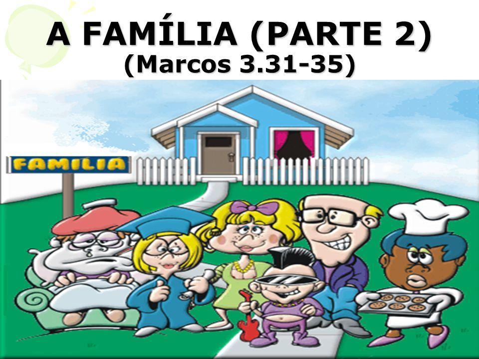 A FAMÍLIA (PARTE 2) (Marcos 3.31-35)